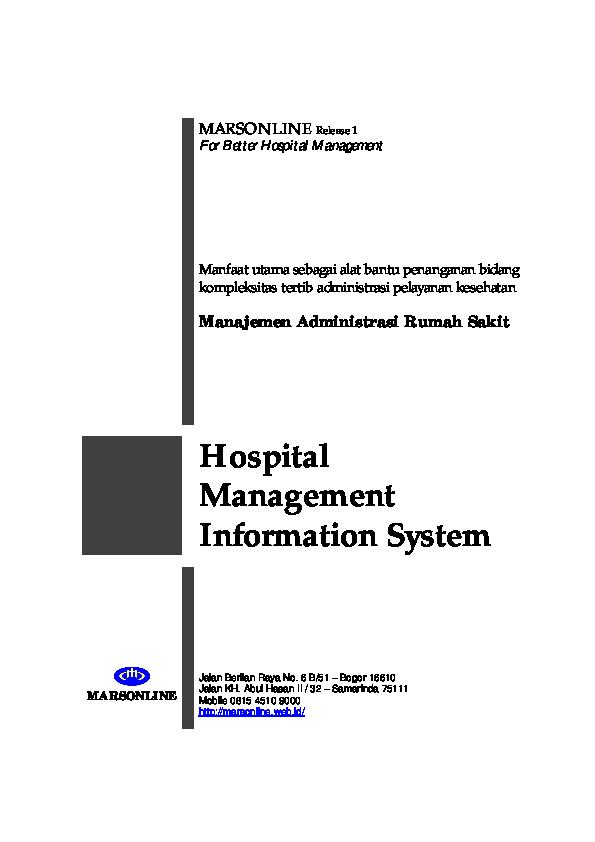 Pdf Sistem Informasi Rumah Sakit Ed Soeliant Academiaedu