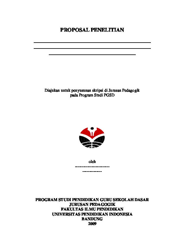 Pdf Sistematika Penulisan Proposal Penelitian Sajida Alfi Academia Edu