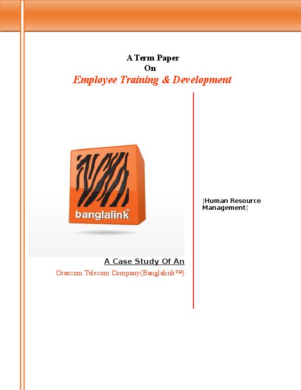 Free term paper training development literature review case study research