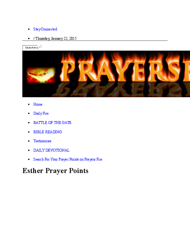 DOC) Ester Prayer points | Patricia Makama - Academia edu