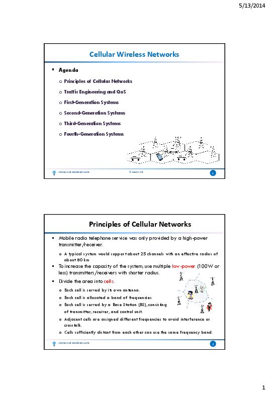 PDF) Wireless & Mobile Networks - 7  Cellular Wireless