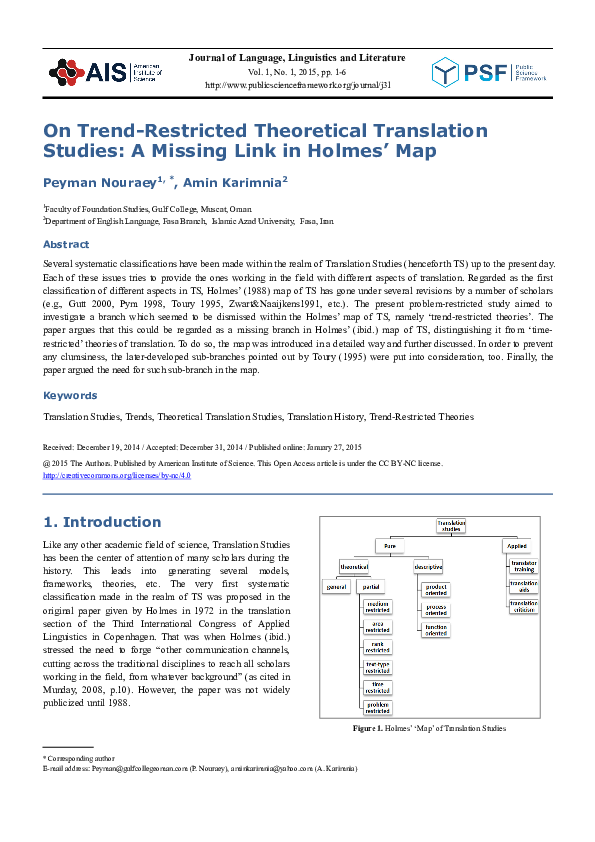 PDF) On Trend-Restricted Theoretical Translation Studies: A