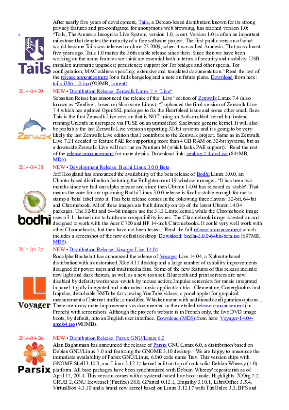 DOC) Distro Linux April 2014 | oktav hadiwijaya - Academia edu