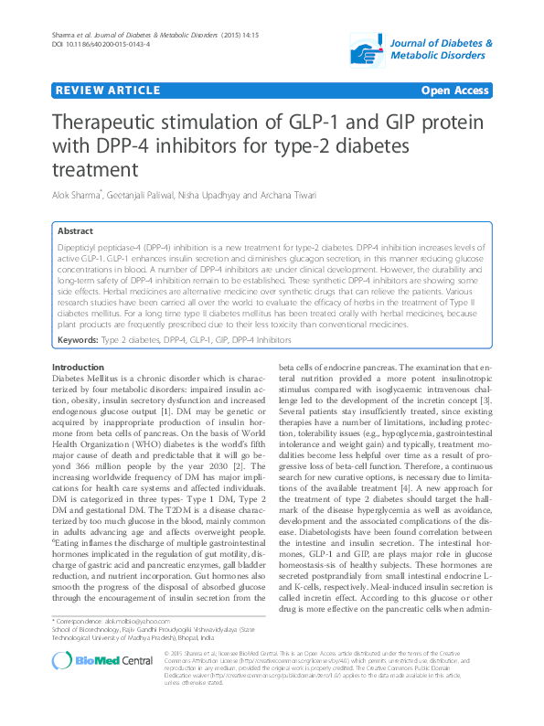 diabetes dpp 4 versus glp 1