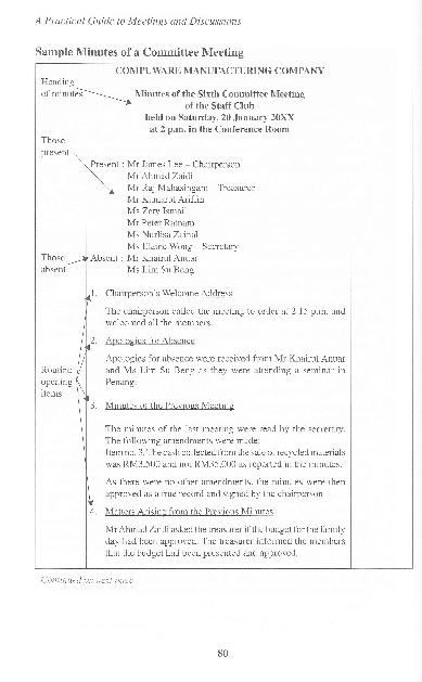 Pdf Sample Minutes Of Meeting Nur Fatihah Sukor Academia Edu