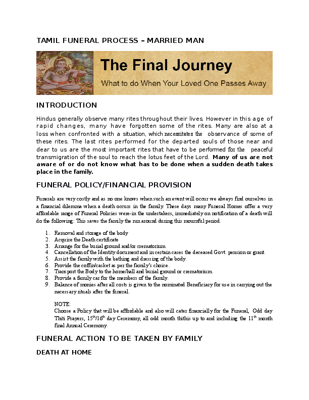 DOC) Tamil Funeral Process | Roy Pillay - Academia edu