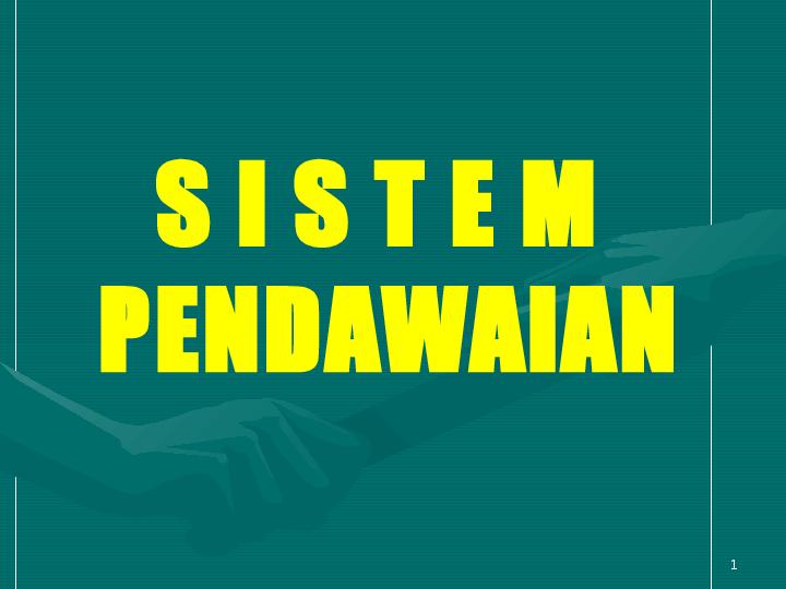Penerangan tentang ciri-ciri pemilihan sistem pendawaian