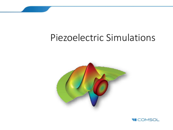 Comsol Electric Field Simulation
