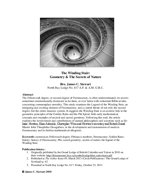 PDF) The Winding Stair: Geometry & The Secrets of Nature