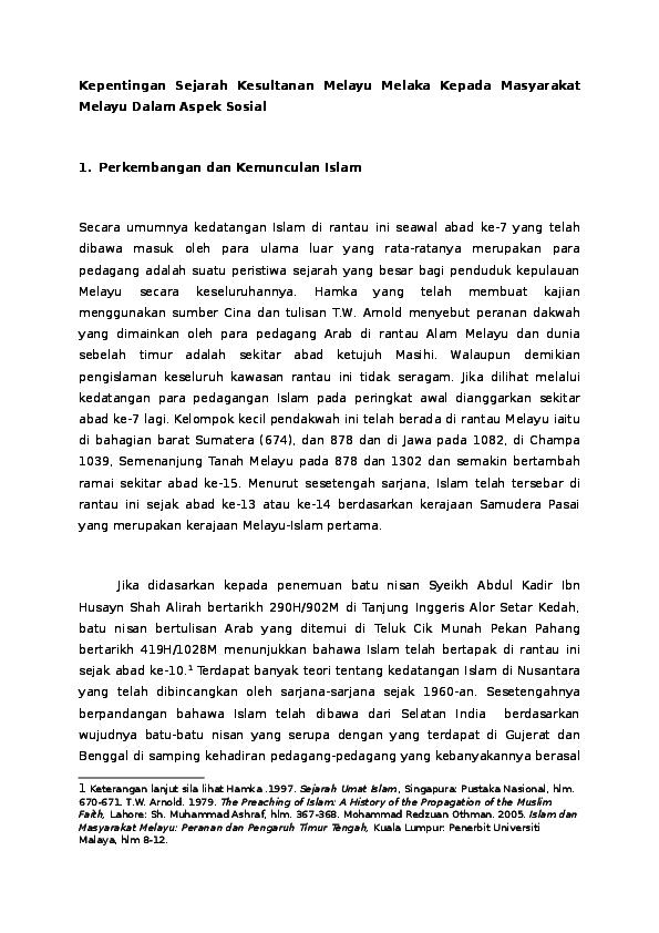 Doc Kesultanan Melayu Melaka Muhammad Zarrin Academia Edu