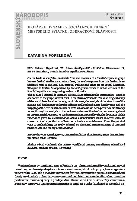 038b526eede8 PDF) K otázke dynamiky sociálnych funkcií mestského sviatku ...