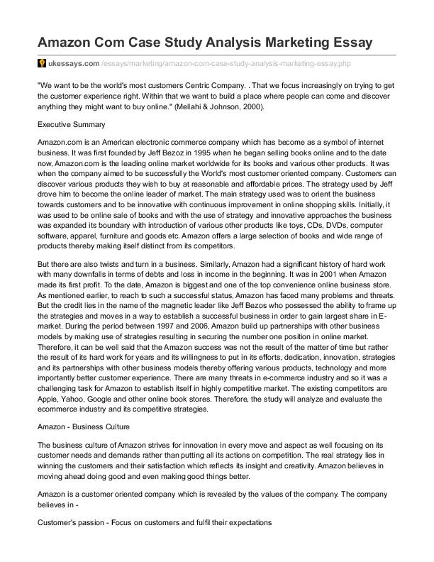 analysis of amazon company