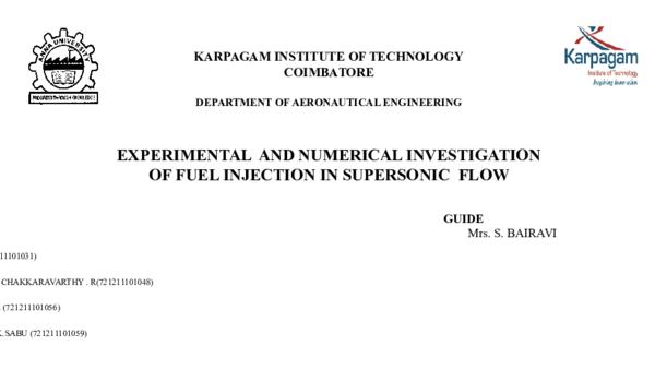 PPT) LPG injection in Supersonic flow | S PANDIYARAJAN - Academia edu