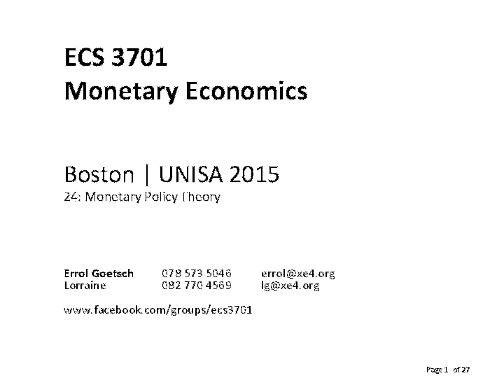 Monetary Economics Pdf
