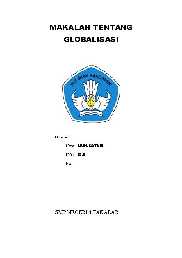 Doc Makalah Globalisasi Rahmaniar Zahraqueen Academia Edu