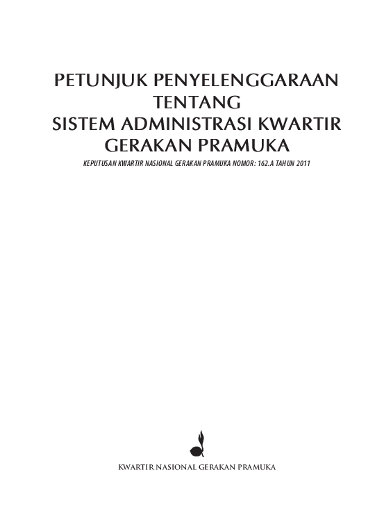 Pdf Sistem Administrasi Kwartir Gerakan Pramuka Ayin