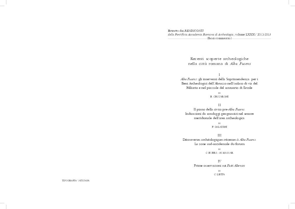 PDF) Alba Fucens  gli interventi della Soprintendenza per i Beni ... f1cfcb08a33f