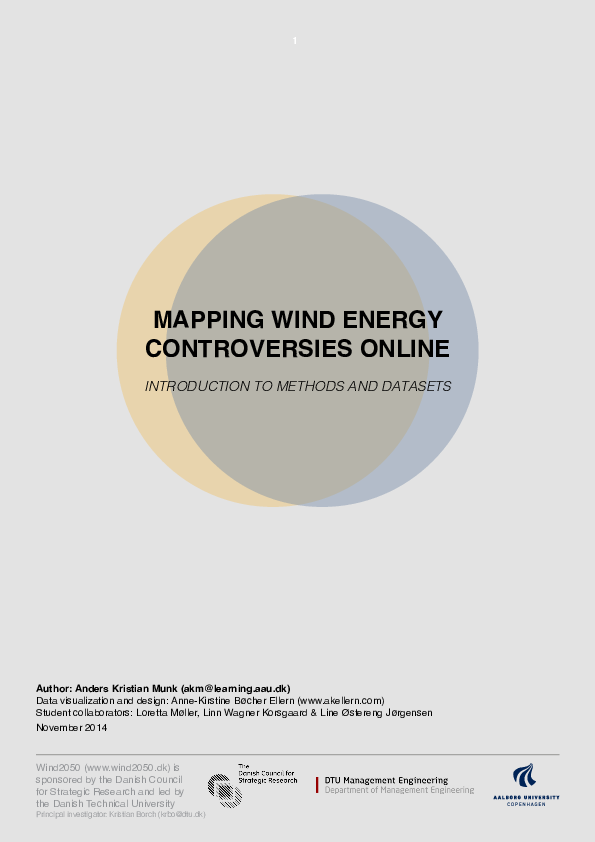 PDF) Mapping Wind Energy Controversies Online: Introduction to