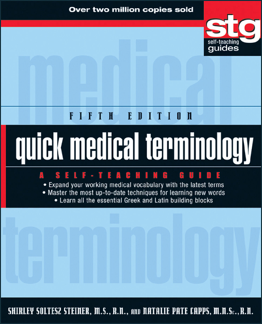 PDF) Quick Medical Terminology - A Self Teaching Guide