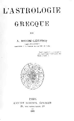 c15faa738a4 PDF) Bouche-Leclercq L Astrologie 1899