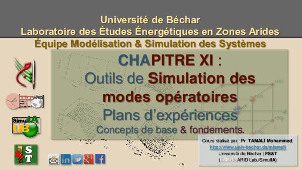 Pdf Outils De Simulation Des Modes Operatoires Plans D Experiences Concepts De Base Fondements Tamali Mohammed Academia Edu