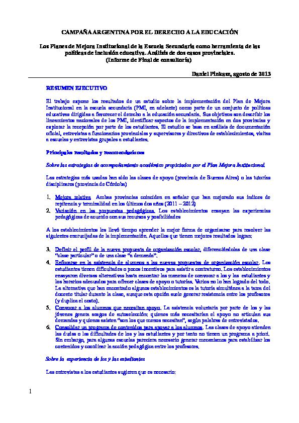 regimen academico de la escuela secundaria resolucion 587/11