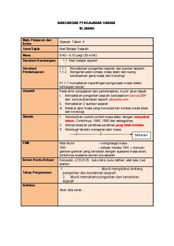 Doc Rph Kssr Sejarah Sj Tahun 4 Adi May Academia Edu