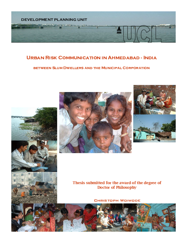 PDF) Urban Risk Communication in Ahmedabad -India (2007) | Chris