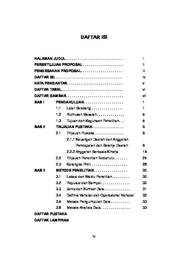 Contoh Format Daftar Isi Ilmusosial Id