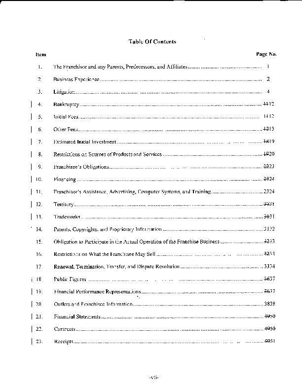 Pdf Mcdonald S Franchise Disclosure Document With Exhibits Abe Missle Academia Edu