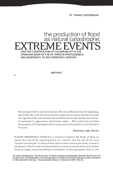 7b2b3d4c8480b The Production of Flood as Natural Catastrophe  Extreme Events and ...