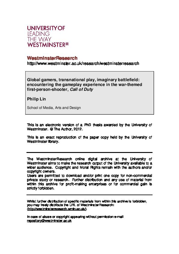Pdf Global Gamers Transnational Play Imaginary Battlefield Philip Lin Academia Edu