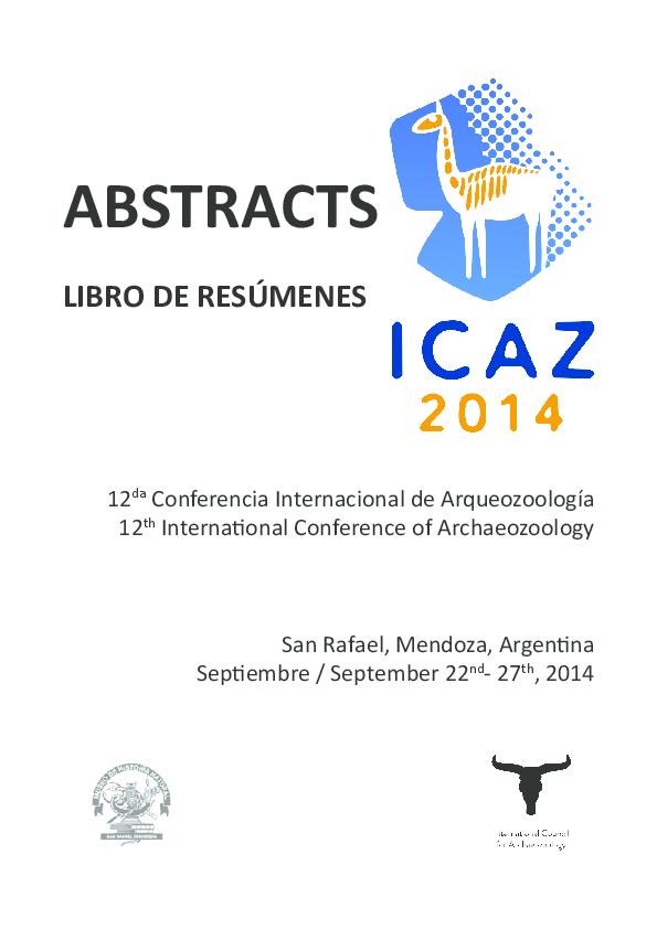 2ad21031ac75 PDF) Abstracts. 12da Conferencia Internacional ICAZ