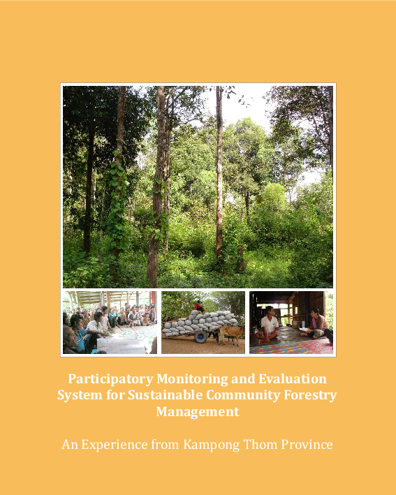 Participatory monitoring and evaluation system for sustainable ...
