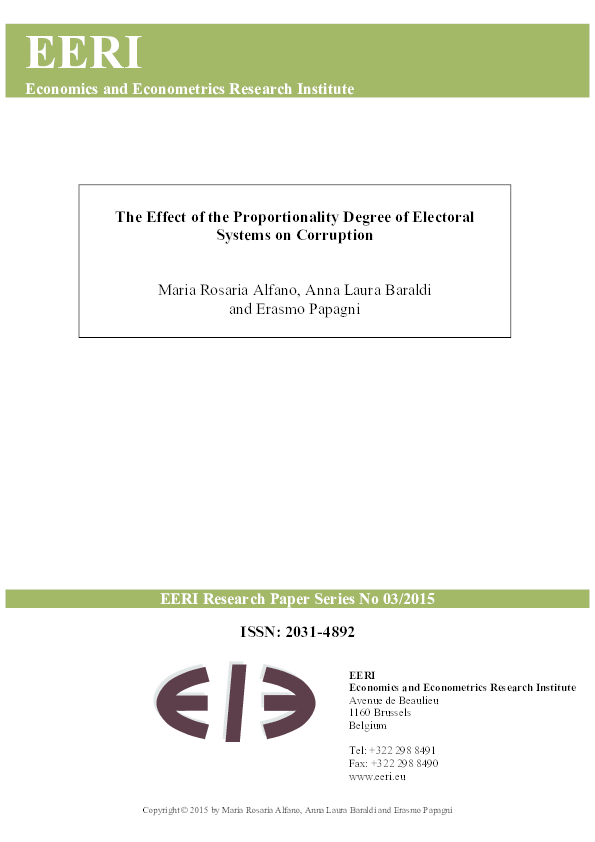 PDF) The Effect of the Proportionality Degree of Electoral