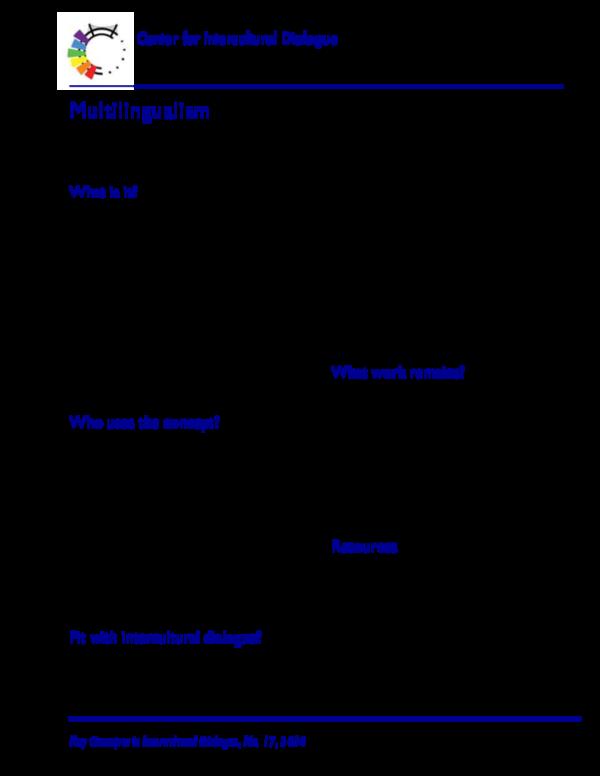 PDF) Multilingualism   Josep Soler - Academia edu