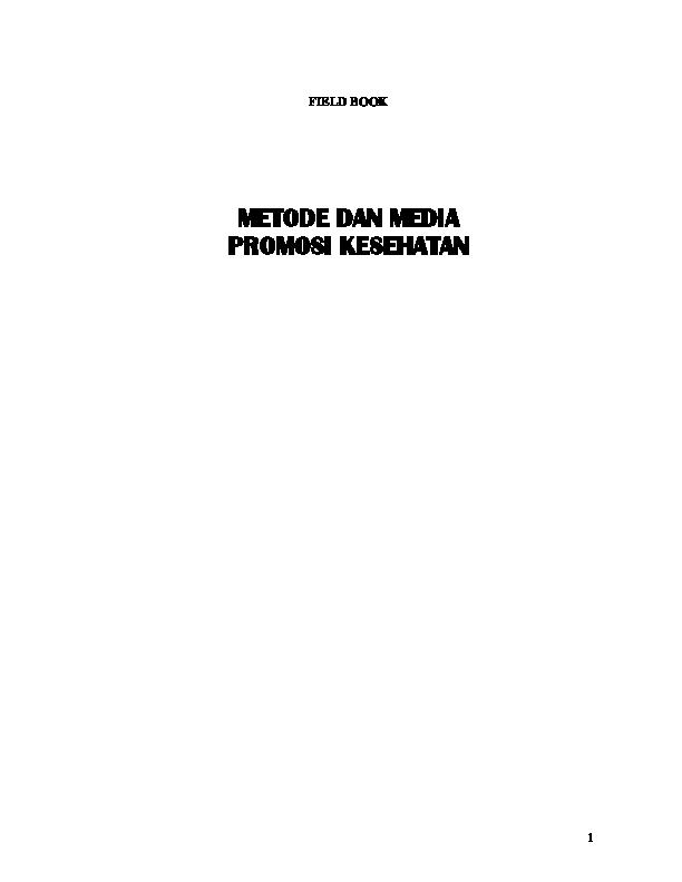 Pdf Metode Dan Media Promosi Kesehatan Martha Siahaan Academia Edu