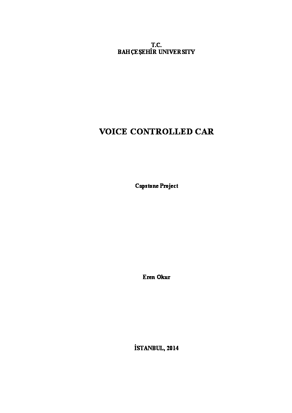 DOC) Voice controlled car final report | Eren Okur
