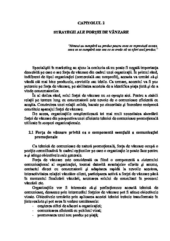 Exemple de strategii de vanzare