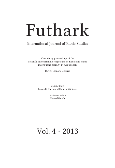 Pdf Christian Prayers And Invocations In Scandinavian Runic