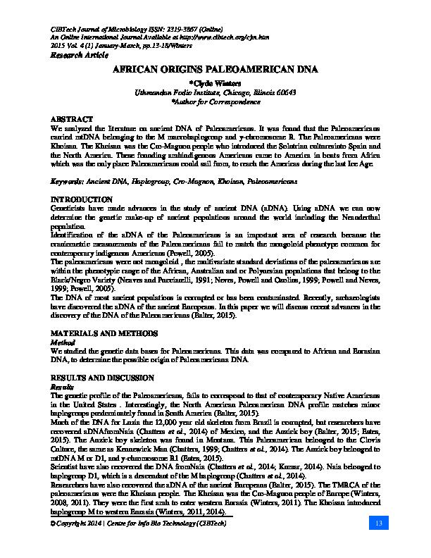 dna research paper pdf