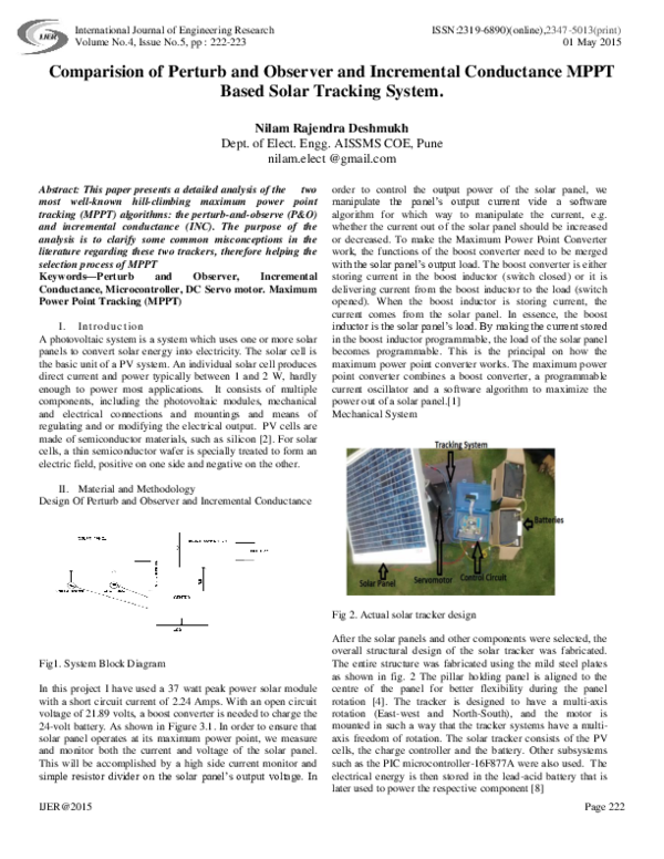 Block Diagram Of Solar Tracker With Explanation