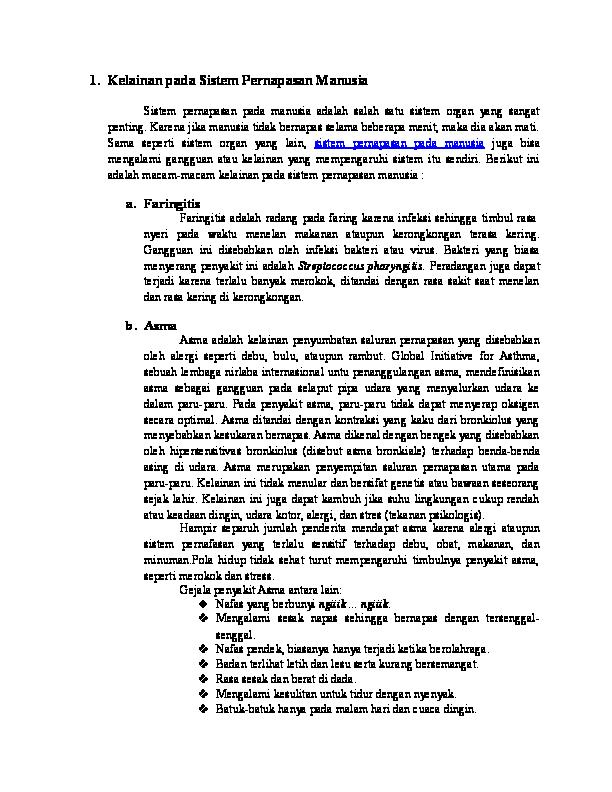 DOC) Kelainan pada Sistem Pernapasan bb12ce1f1b