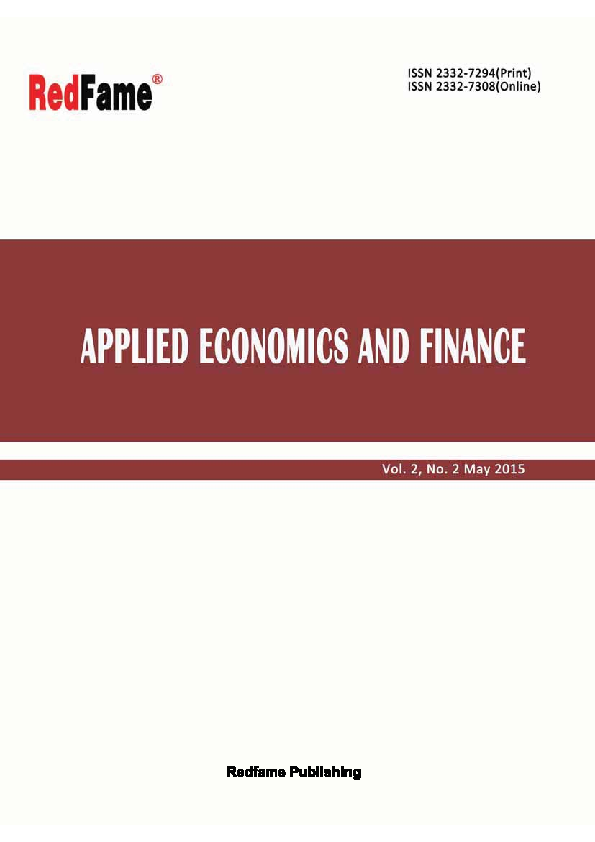 PDF) Applied Economics and Finance, Vol  2, No  2, May 2015