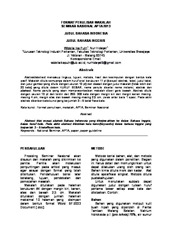 Doc Format Full Paper Sifa Landari Academia Edu