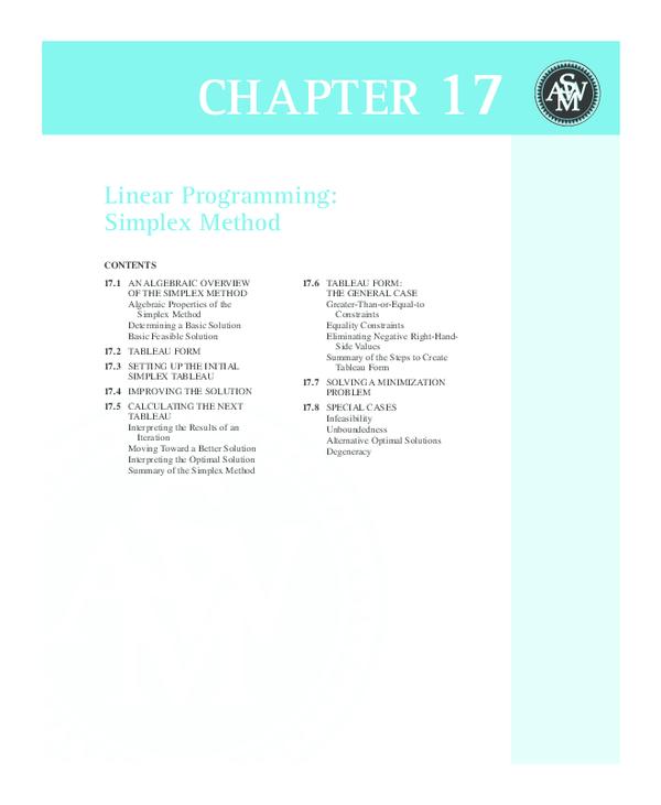 PDF) Linear Programming: Simplex Method | Lhon PErez