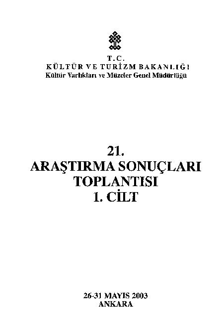 Ilısu Klasik Yüzey Araştırmaları 2002 Feridun Suha Sahin