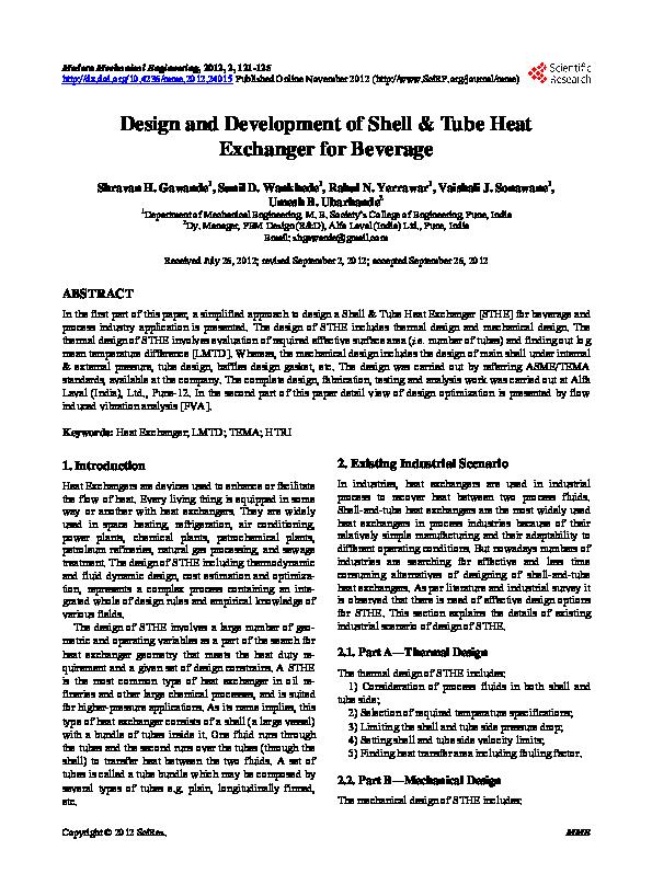 Pdf Design And Development Of Shell Tube Heat Exchanger For Beverage Siju Sasidharan Academia Edu,Minimalist House Design