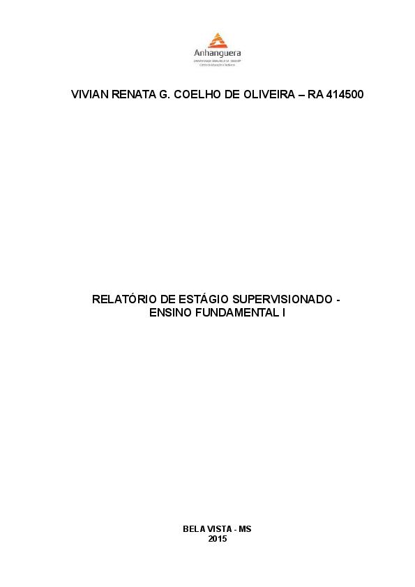 Doc Vivian Renata G Coelho De Oliveira Ra 414500