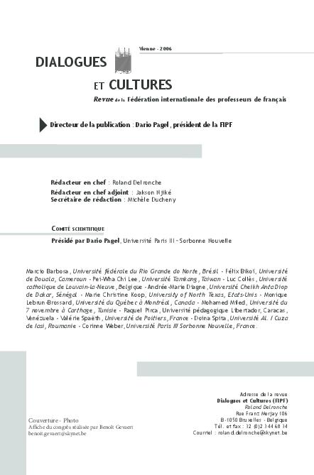 Pdf Pour Une Conception Linguistique De La Culture Zsuzsa Simonffy Academia Edu